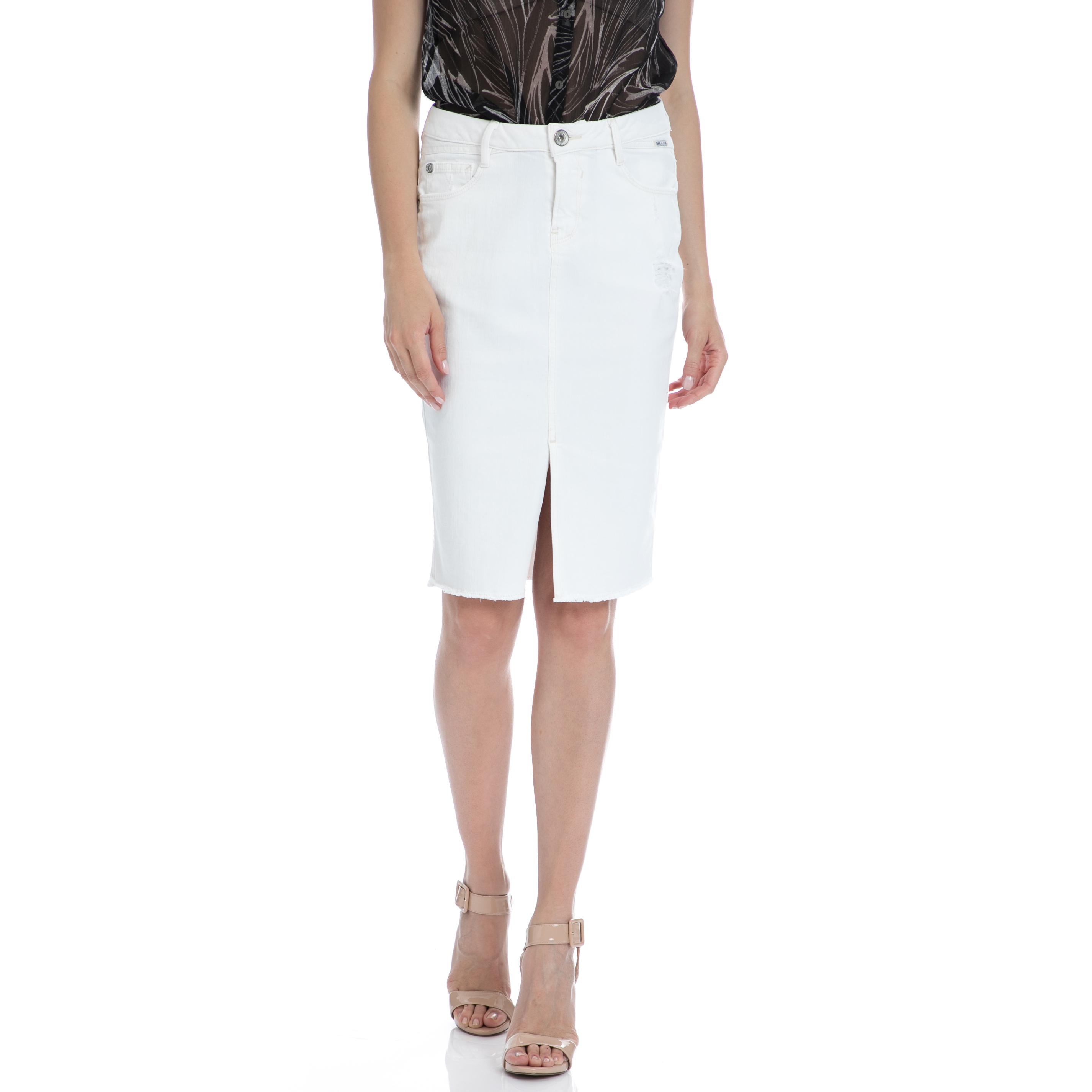 149fc25d76 GARCIA JEANS Γυναικεία τζιν σαλοπέτα λευκή γυναικεία ρούχα ολόσωμες ...