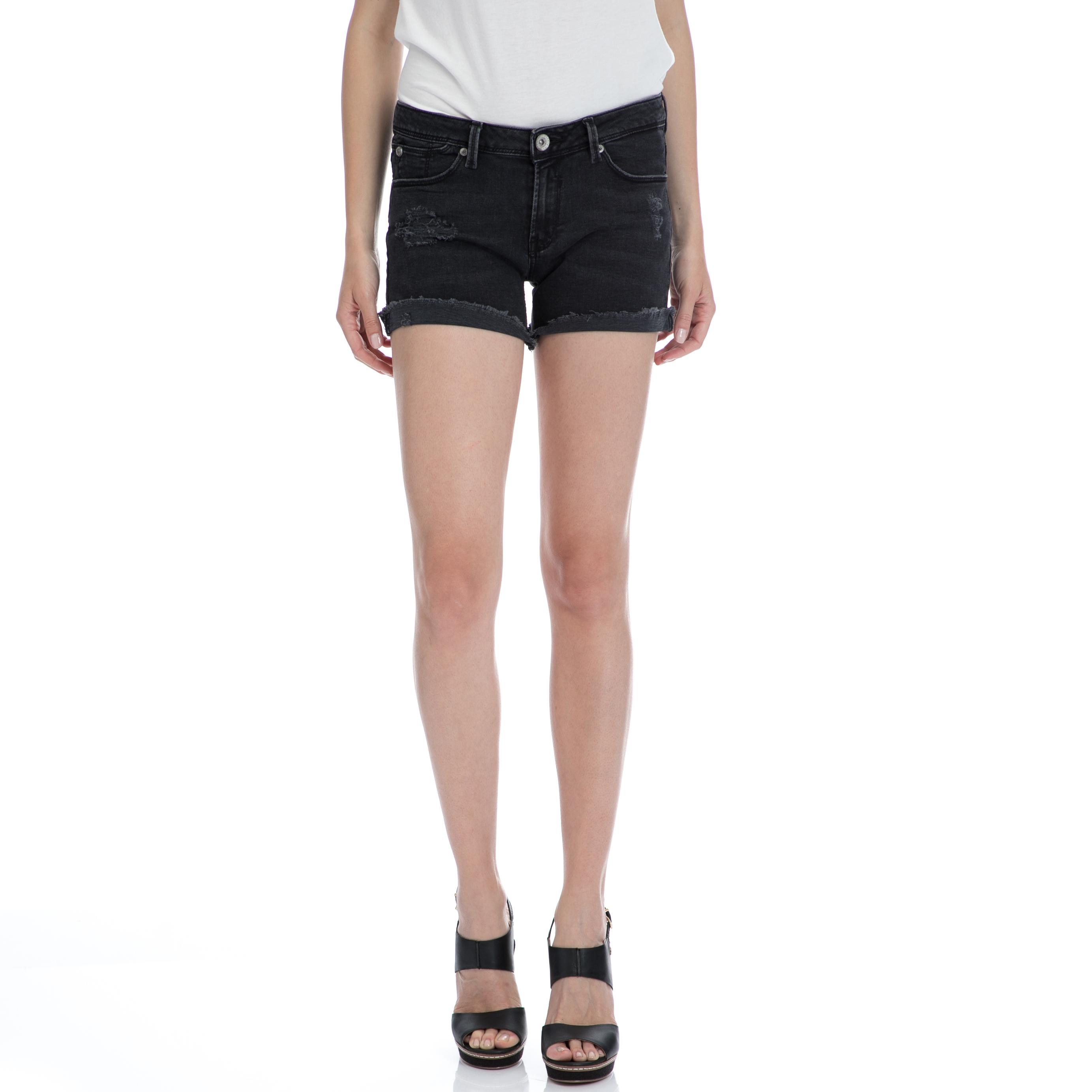 GARCIA JEANS - Γυναικείο τζιν σορτς Garcia Jeans μαύρο γυναικεία ρούχα σορτς βερμούδες casual jean