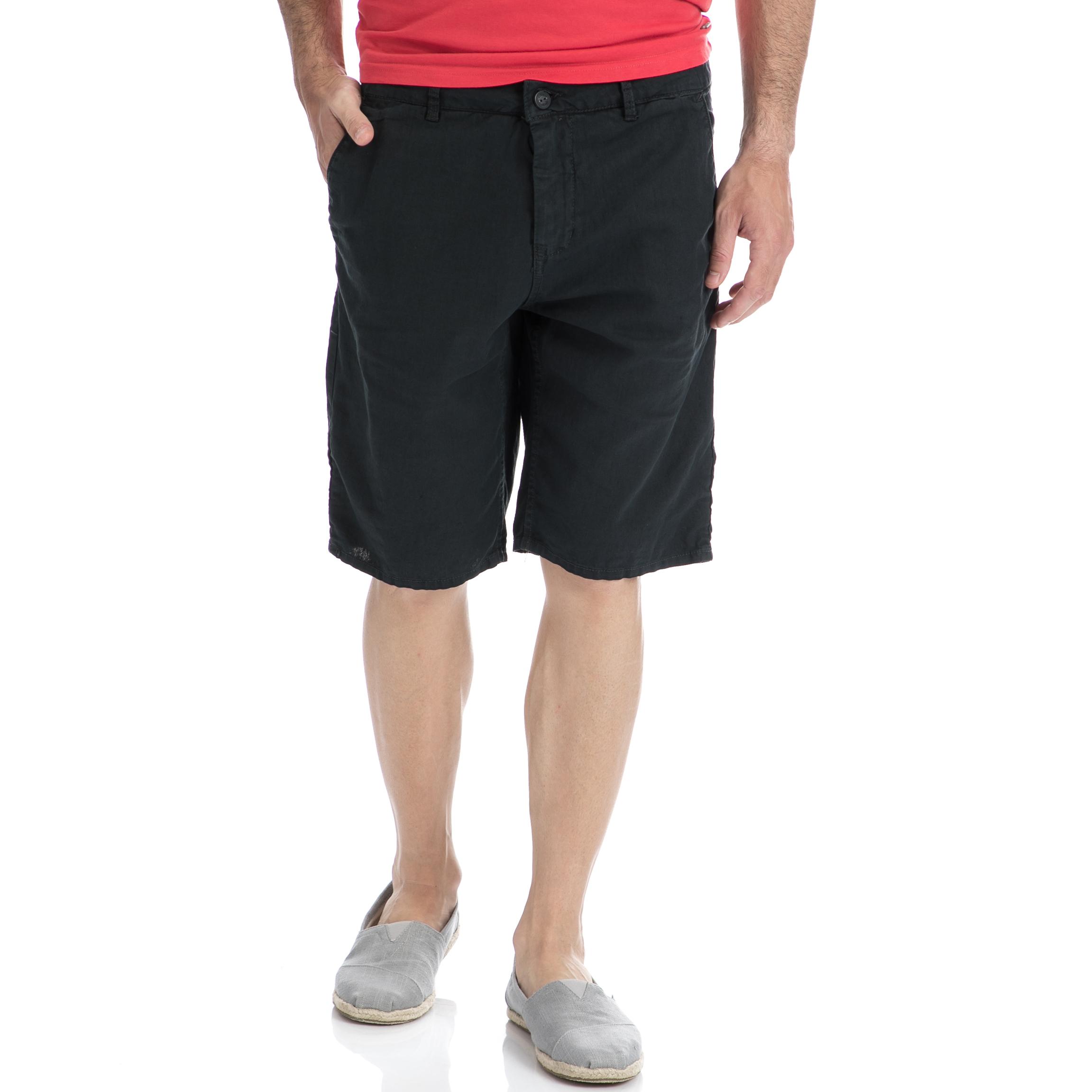 GARCIA JEANS - Αντρική βερμούδα Garcia Jeans μαύρη-γκρι ανδρικά ρούχα σορτς βερμούδες casual jean