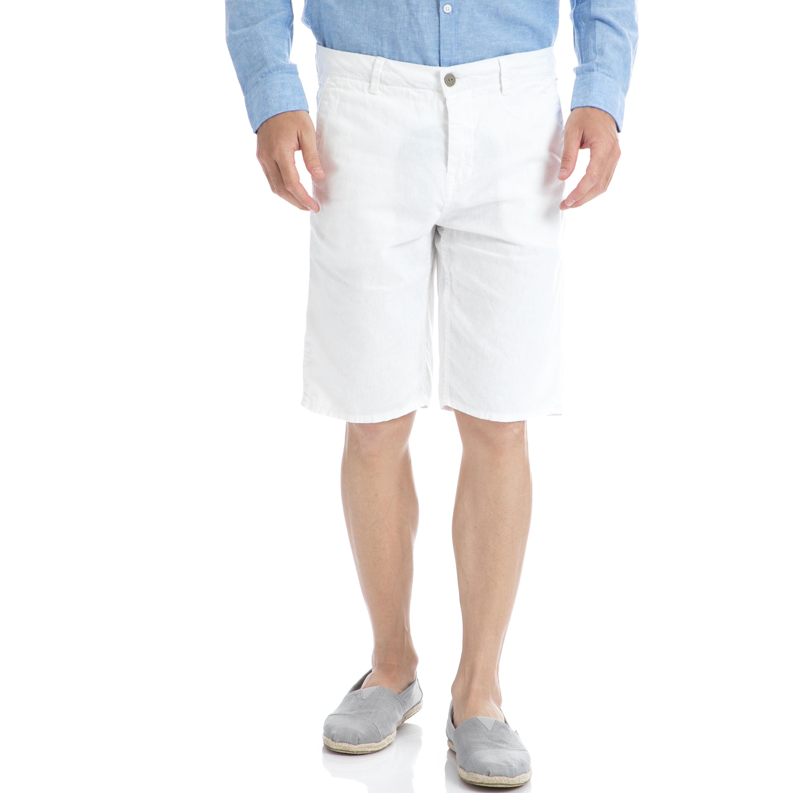 GARCIA JEANS - Αντρική βερμούδα Garcia Jeans άσπρη ανδρικά ρούχα σορτς βερμούδες casual jean