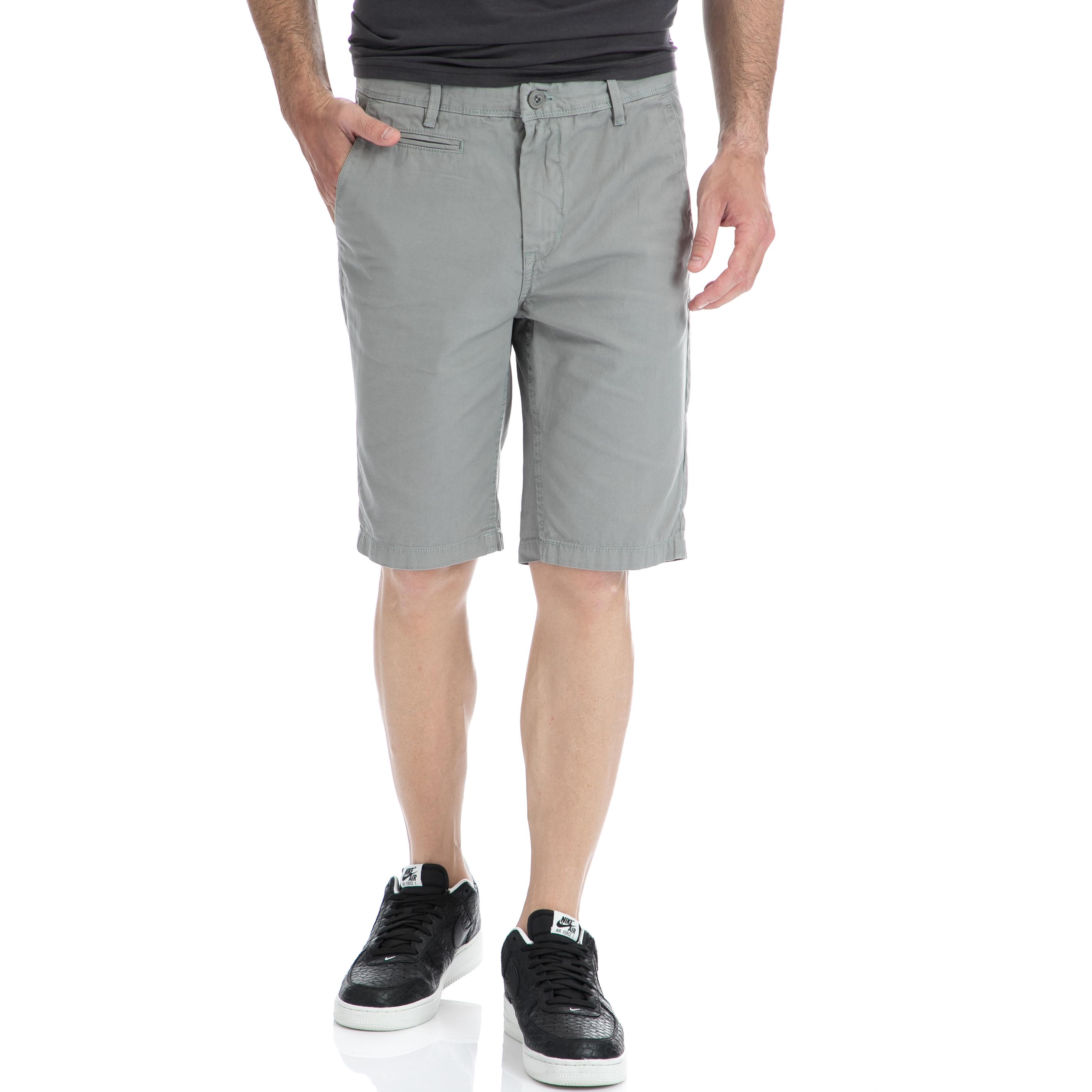 GARCIA JEANS - Αντρική βερμούδα Garcia Jeans γκρι ανδρικά ρούχα σορτς βερμούδες casual jean