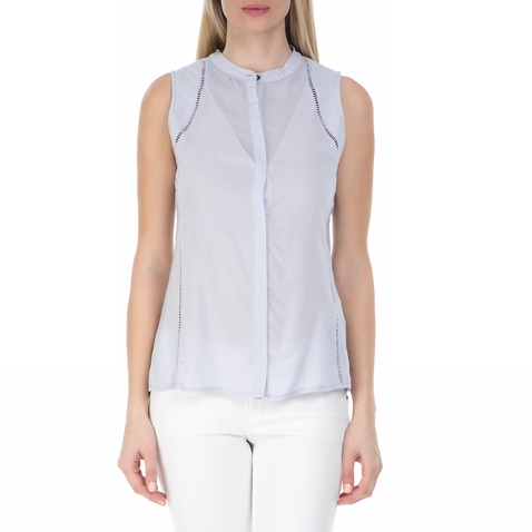 f21f2c5221e9 Γυναικείο αμάνικο πουκάμισο GARCIA JEANS γαλάζιο (1551632.0-00l2 ...