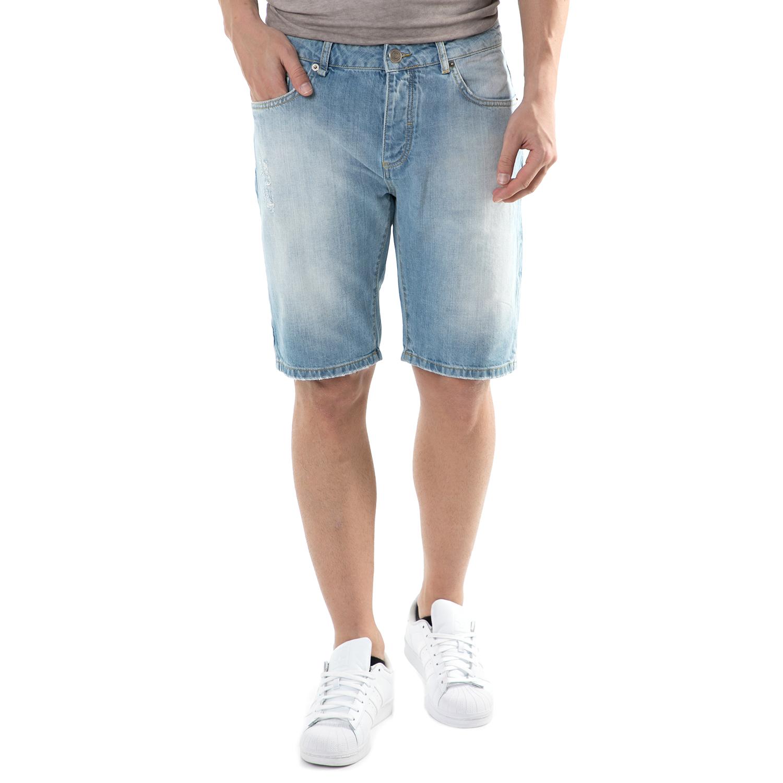 HAMAKI HO - Ανδρική τζιν βερμούδα Hamaki Ho μπλε ανδρικά ρούχα σορτς βερμούδες casual jean