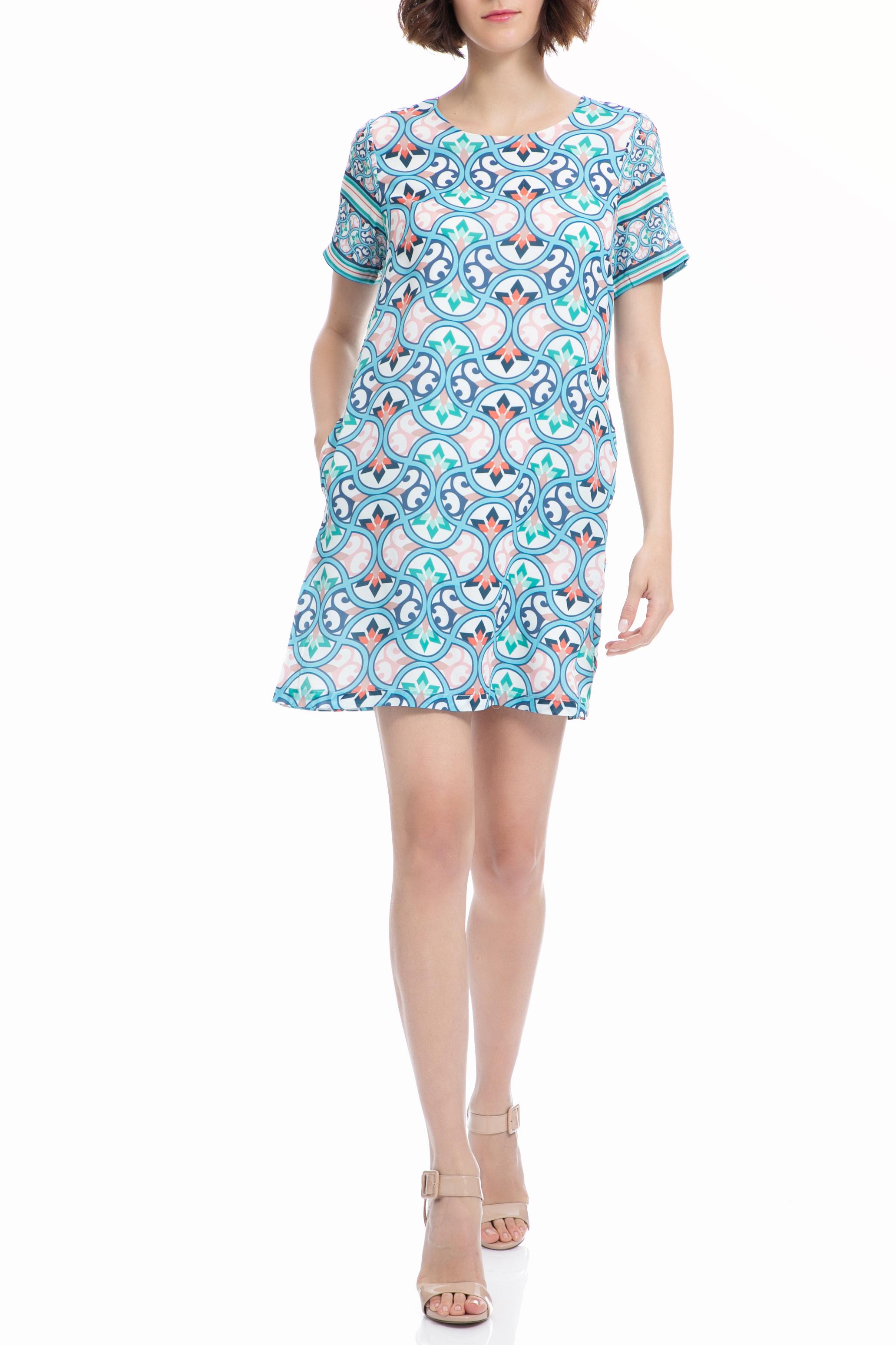 MOLLY BRACKEN - Φόρεμα MOLLY BRACKEN μπλε-λευκό γυναικεία ρούχα φορέματα μίνι