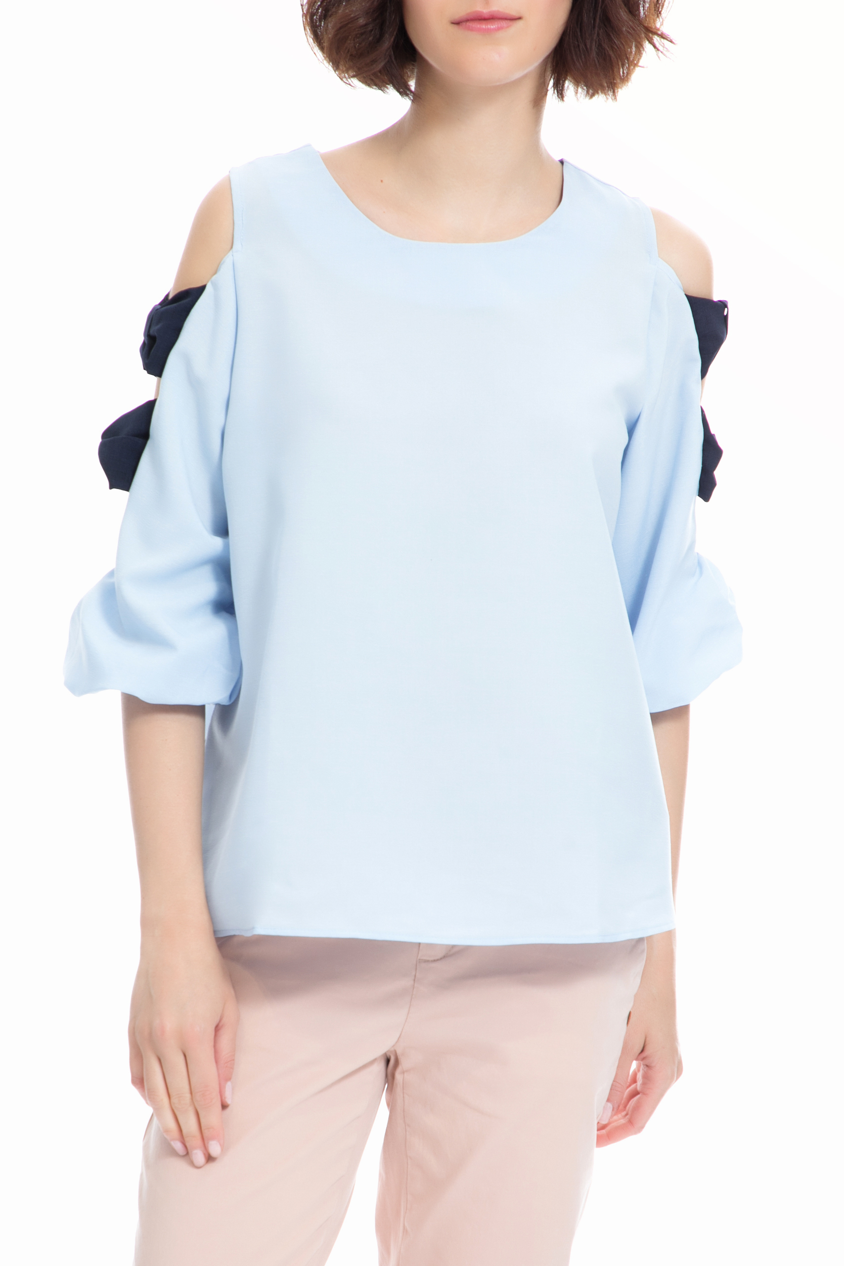 MOLLY BRACKEN - Γυναικείο τοπ MOLLY BRACKEN γαλάζιο γυναικεία ρούχα μπλούζες τοπ