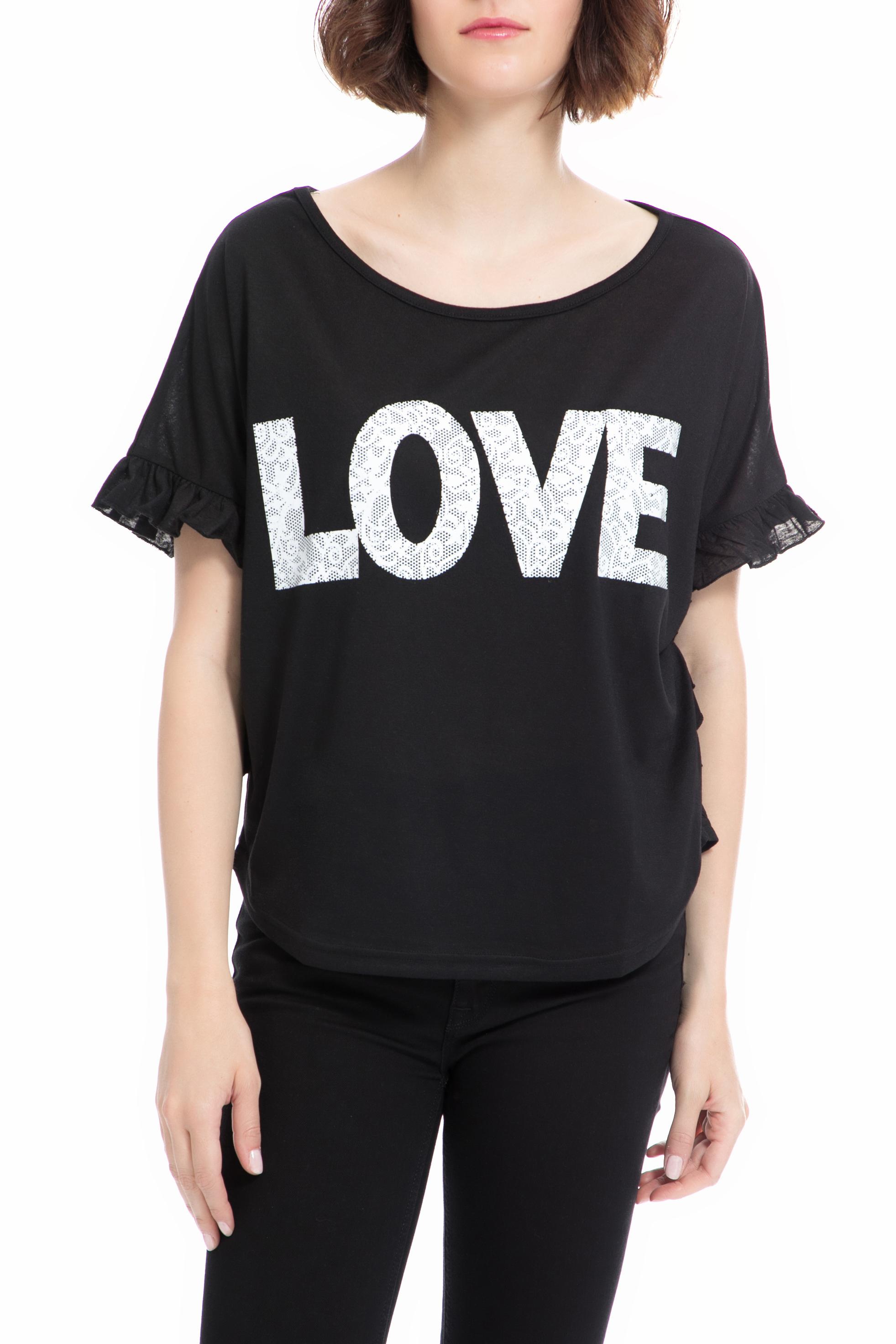 MOLLY BRACKEN - Γυναικεία μπλούζα MOLLY BRACKEN μαύρη γυναικεία ρούχα μπλούζες τοπ