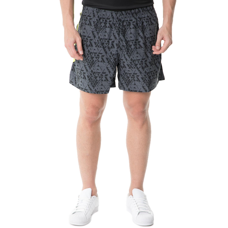 SAUCONY - Ανδρικό αθλητικό σορτς Saucony THROTTLE γκρι ανδρικά ρούχα σορτς βερμούδες αθλητικά