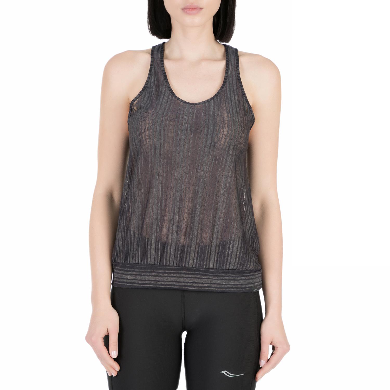 SAUCONY - Γυναικείο αθλητικό φανελάκι Saucony BREEZE TANK μαύρο γυναικεία ρούχα αθλητικά t shirt τοπ