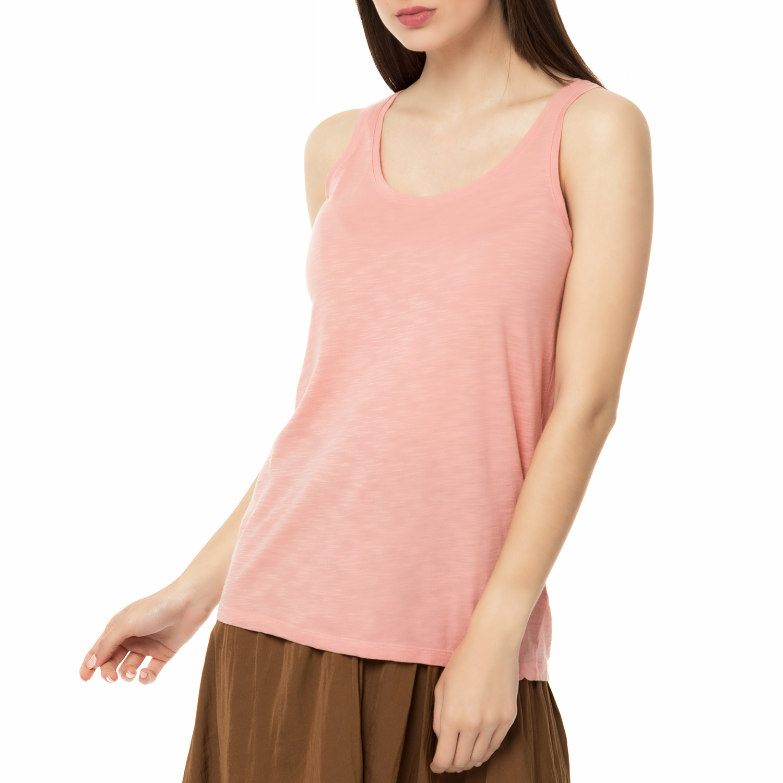 AMERICAN VINTAGE - Γυναικεία αμάνικη μπλούζα JAC50E17 AMERICAN VINTAGE ροζ γυναικεία ρούχα μπλούζες αμάνικες