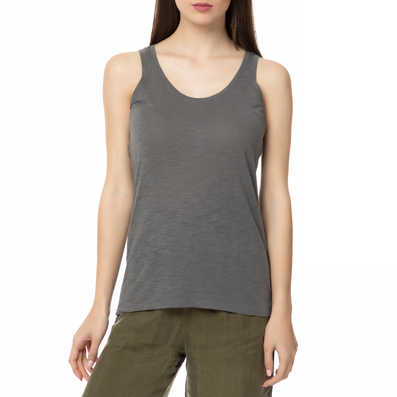 AMERICAN VINTAGE - Γυναικεία αμάνικη μπλούζα JAC50E17 AMERICAN VINTAGE ανθρακί γυναικεία ρούχα μπλούζες αμάνικες