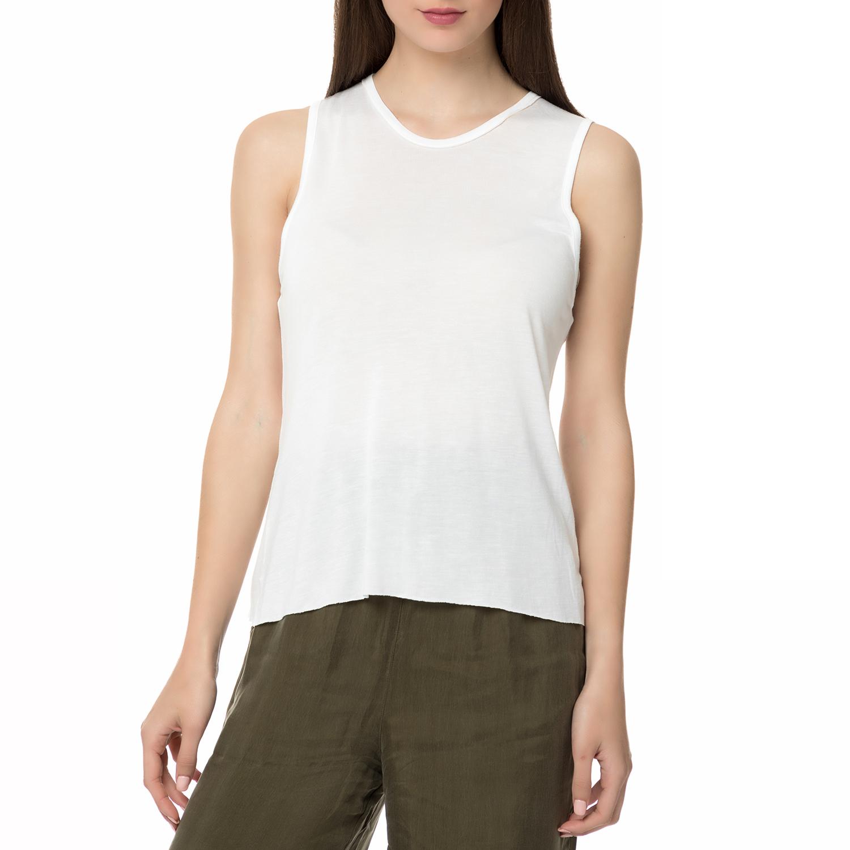 AMERICAN VINTAGE - Γυναικεία αμάνικη μπλούζα VIX40E17 AMERICAN VINTAGE λευκή γυναικεία ρούχα μπλούζες αμάνικες