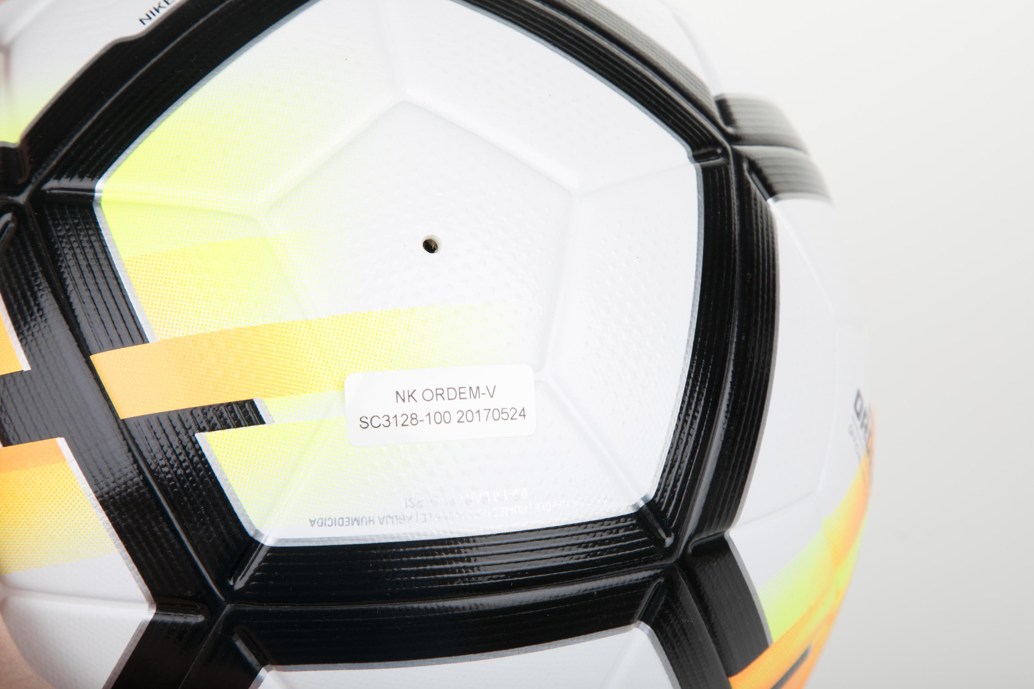 94ac91a760e NIKE - Μπάλα ποδοσφαίρου NIKE ORDEM-V λευκή-πορτοκαλί, Μπάλες, ΕΞΟΠΛΙΣΜΟΣ | ΑΘΛΗΤΙΚΑ  ΕΙΔΗ | ΜΠΑΛΕΣ