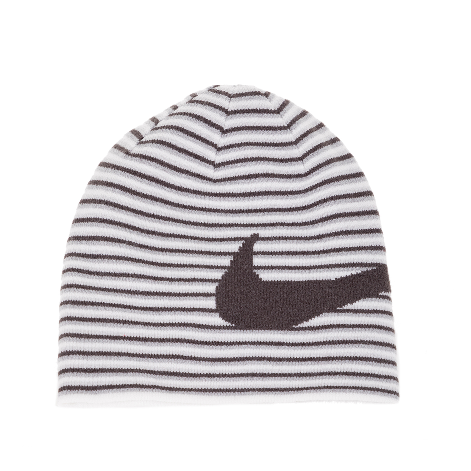 NIKE - Unisex παιδικός σκούφος NIKE BEANIE REVERSIBLE λευκός με ριγέ μοτίβο παιδικά boys αξεσουάρ καπέλα σκούφοι