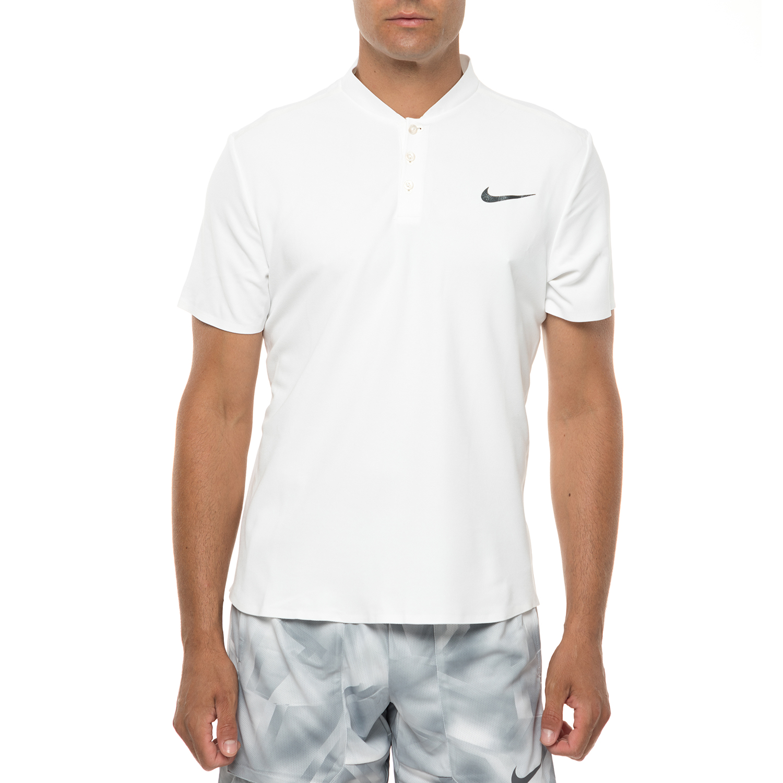 NIKE - Ανδρική κοντομάνικη μπλούζα τένις NIKE λευκή ανδρικά ρούχα αθλητικά t shirt