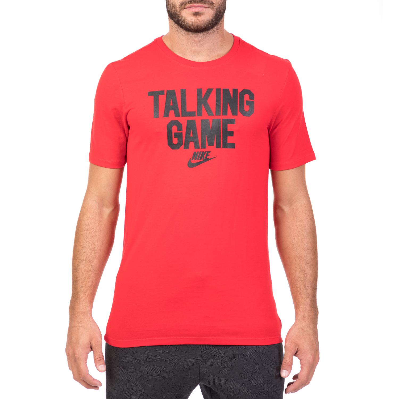 NIKE - Ανδρική κοντομάνικη μπλούζα NIKE SW VERBIAGE GAME κόκκινη ανδρικά ρούχα αθλητικά t shirt