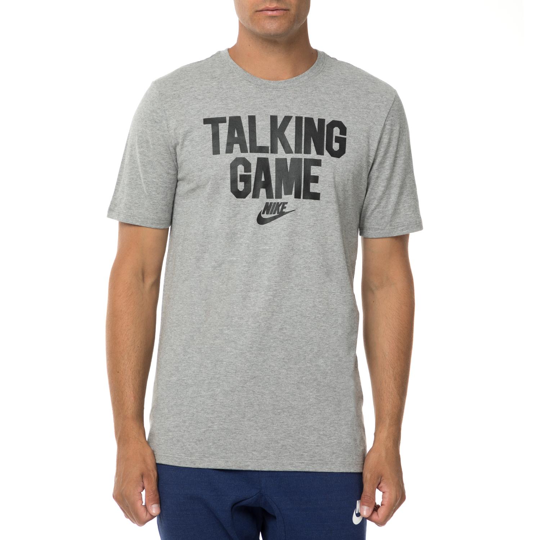 NIKE - Ανδρική κοντομάνικη μπλούζα NIKE SW VERBIAGE GAME γκρι ανδρικά ρούχα αθλητικά t shirt