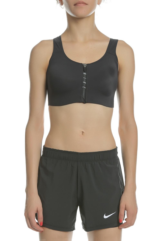 NIKE - Γυναικείος αθλητικός στηθόδεσμος Nike SHAPE ZIP BRA μαύρος γυναικεία ρούχα αθλητικά μπουστάκια