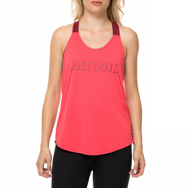 NIKE - Γυναικείο αθλητικό φανελάκι Nike Training Breathe Elastika κόκκινο