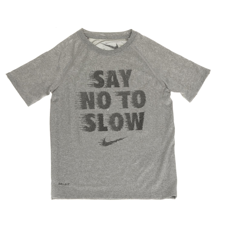 NIKE – Αγορίστικη κοντομάνικη μπλούζα Nike DRY TEE LEG RAG SAY NO γκρι 98345690a7b