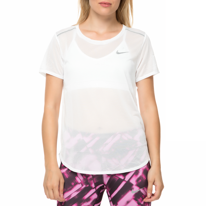 NIKE - Γυναικεία κοντομάνικη μπλούζα Nike Breathe λευκή