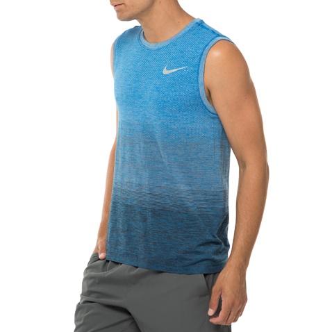 NIKE-Ανδρική αθλητική αμάνικη μπλούζα NIKE DF KNIT TOP SL μπλε
