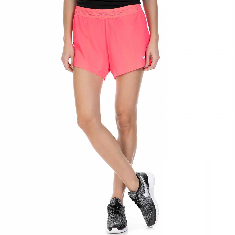 "NIKE - Γυναικείο αθλητικό σορτς Nike AeroSwift 4"" ροζ γυναικεία ρούχα σορτς βερμούδες αθλητικά"