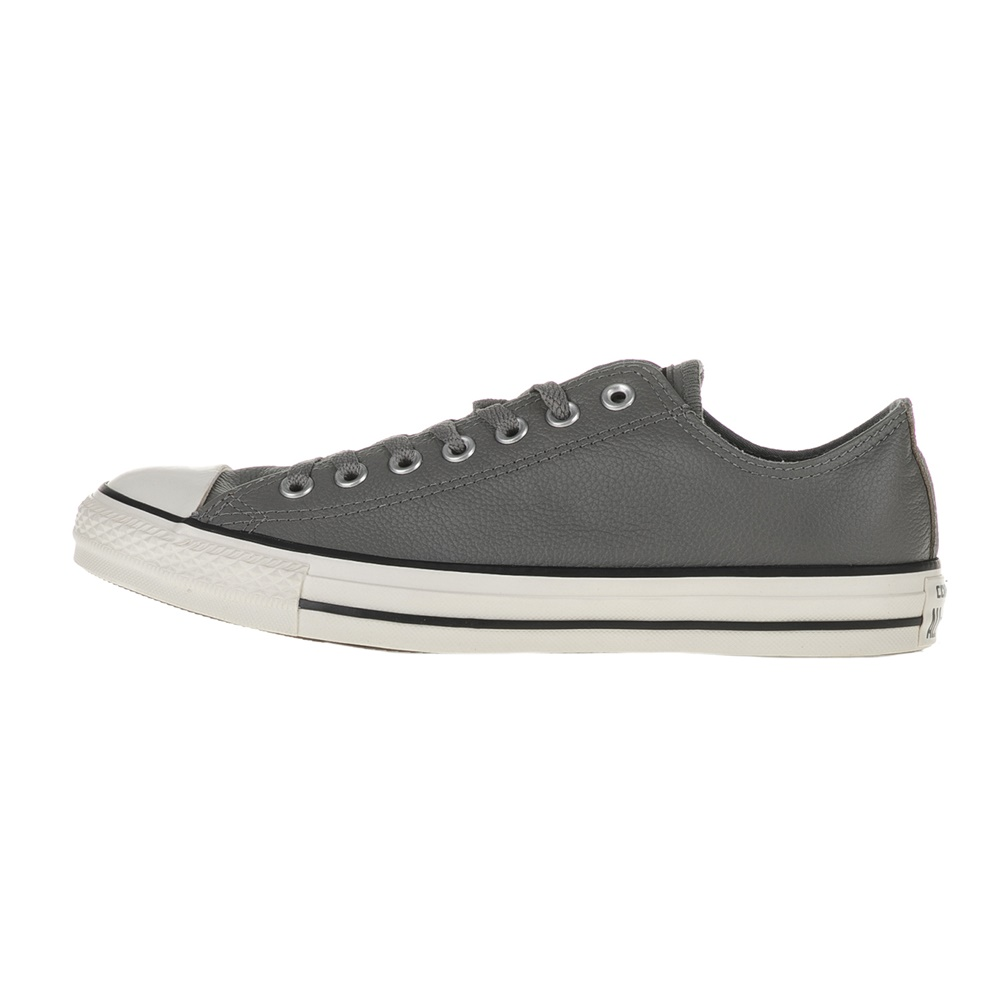 CONVERSE – Unisex δερμάτινα sneakers Chuck Taylor All Star Ox γκρι