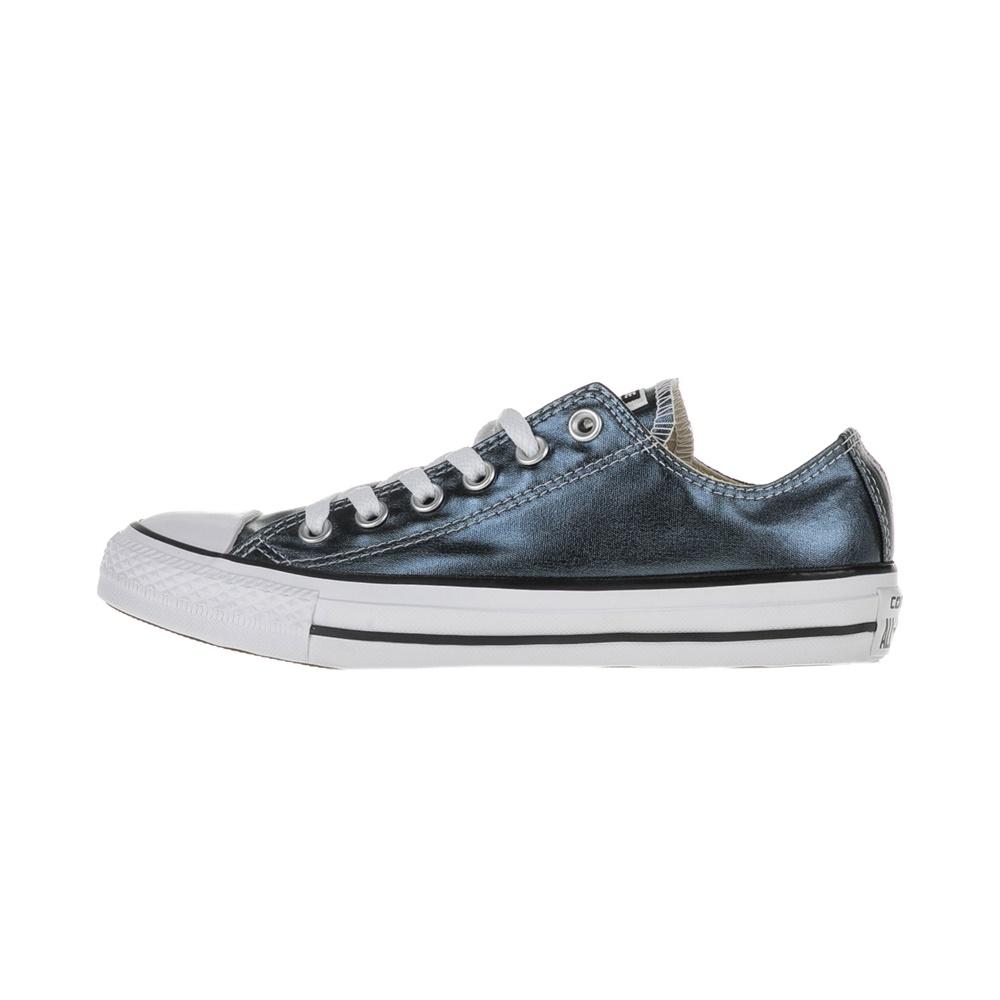 CONVERSE – Γυναικεία χαμηλά sneakers CONVERSE Chuck Taylor All Star Ox μπλε μεταλλικά