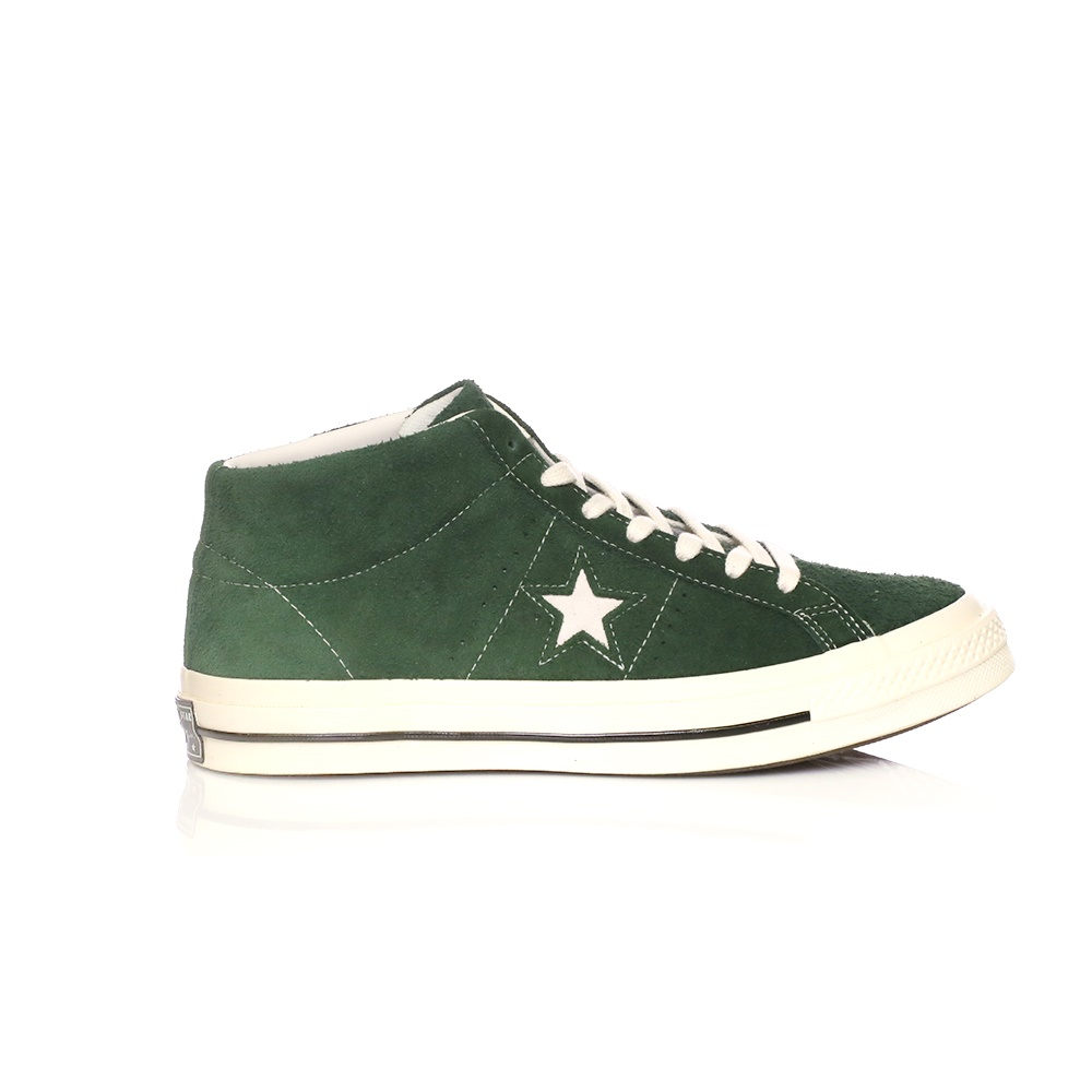 CONVERSE – Ανδρικά μποτάκια Converse One Star '74 Mid Vintage Suede πράσινα