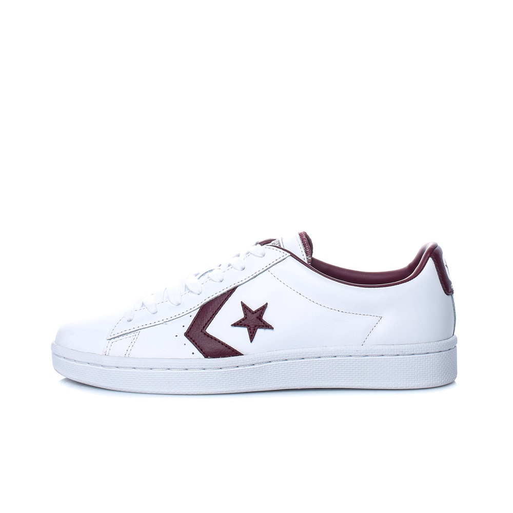 CONVERSE – Unisex χαμηλά sneakers CONVERSE PL 76 Ox λευκά-μπορντό