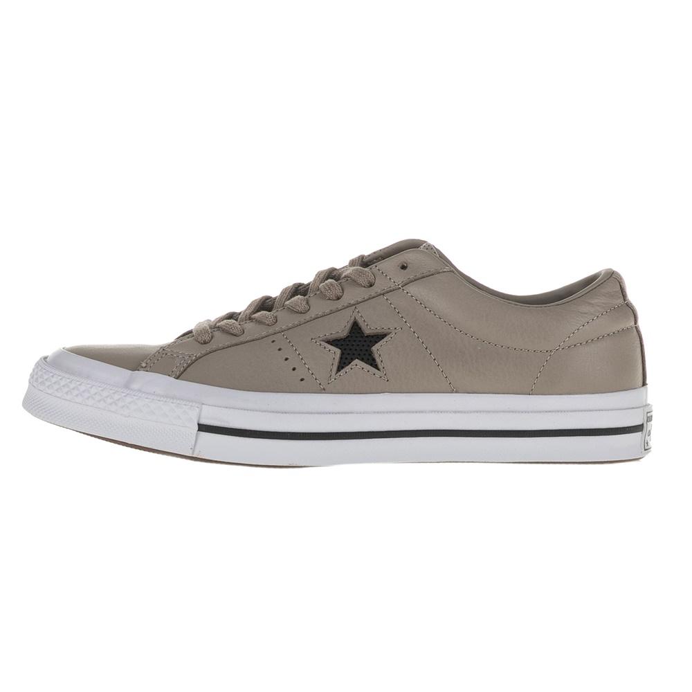 CONVERSE – Unisex δερμάτινα sneakers CONVERSE One Star Ox μπεζ