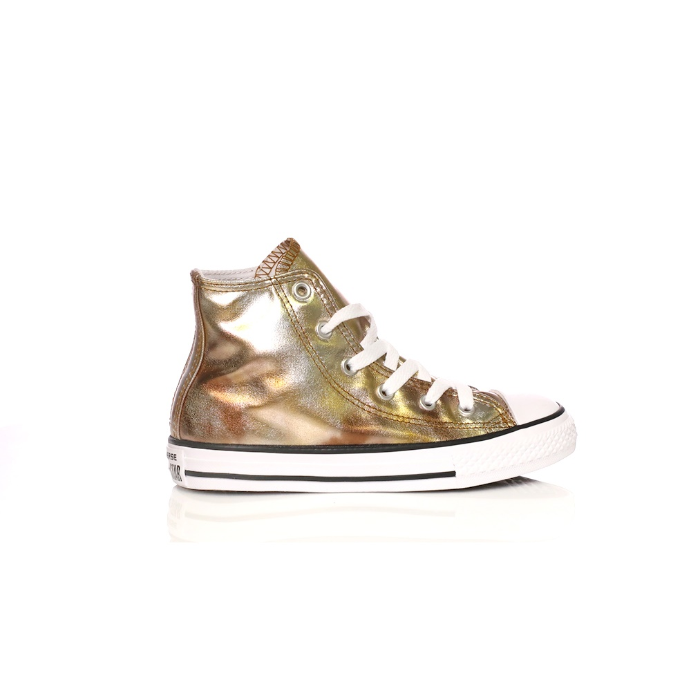 0c8cff29f84 -52% Factory Outlet CONVERSE – Παιδικά μποτάκια Converse Chuck Taylor All  Star Hi χρυσά μεταλλικά