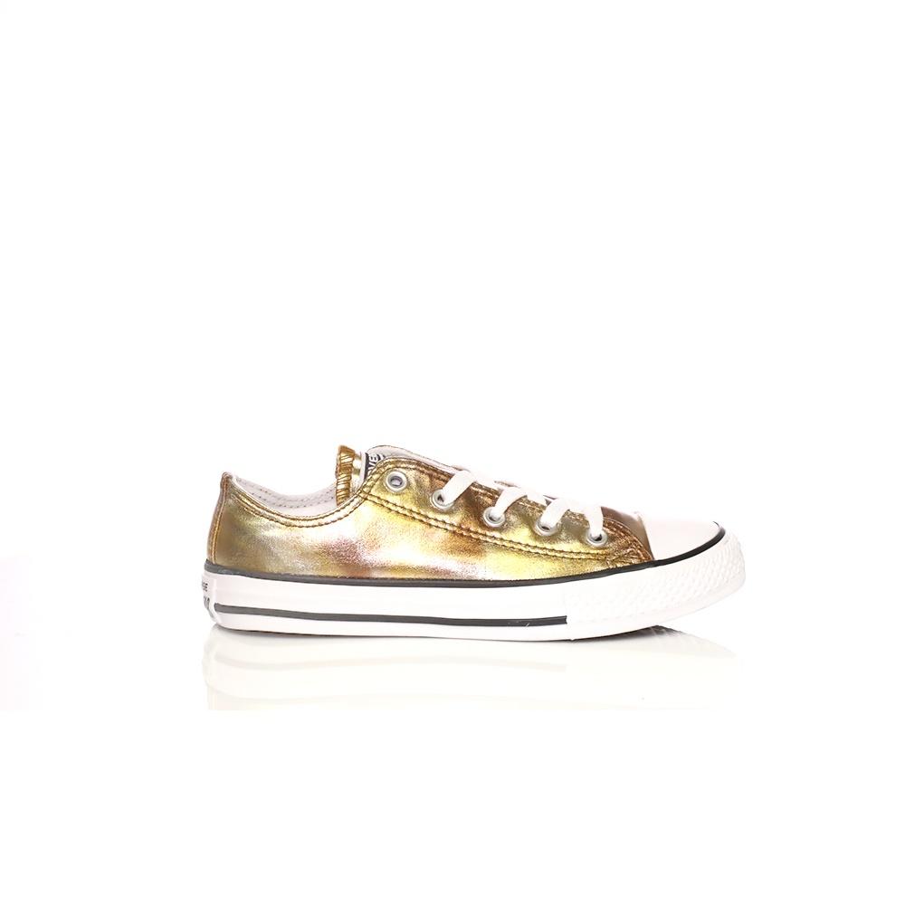 CONVERSE – Παιδικά sneakers Converse Chuck Taylor All Star Ox χρυσά μεταλλικά