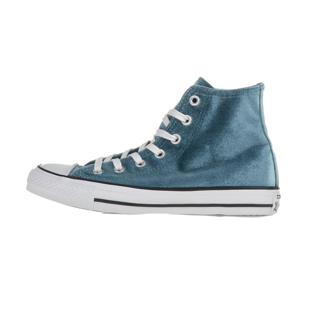 b8fdcc48eef CONVERSE - Γυναικεία μποτάκια Chuck Taylor All Star Hi μπλε μεταλλιζέ
