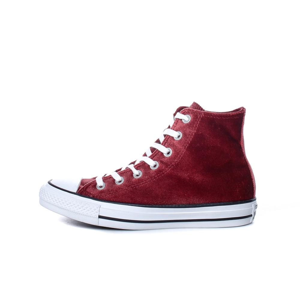 CONVERSE – Γυναικεία παπούτσια Chuck Taylor All Star Hi βελουτέ μπορντώ