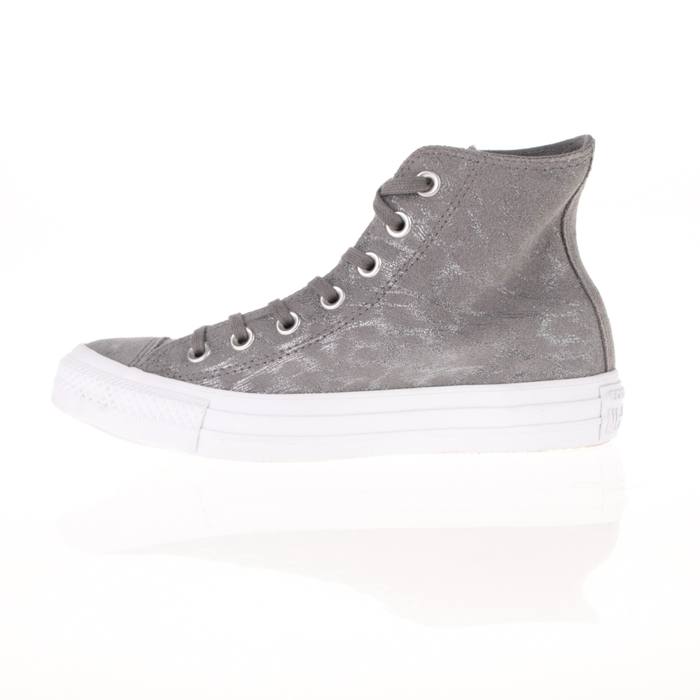 CONVERSE – Γυναικεία ψηλά sneakers CONVERSE Chuck Taylor All Star Hi ανθρακί