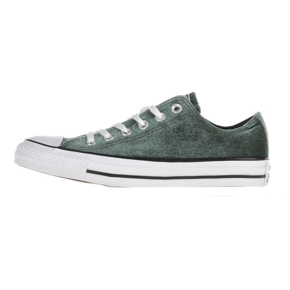 CONVERSE – Γυναικεία sneakers Chuck Taylor All Star Ox κυπαρισσί βελουτέ