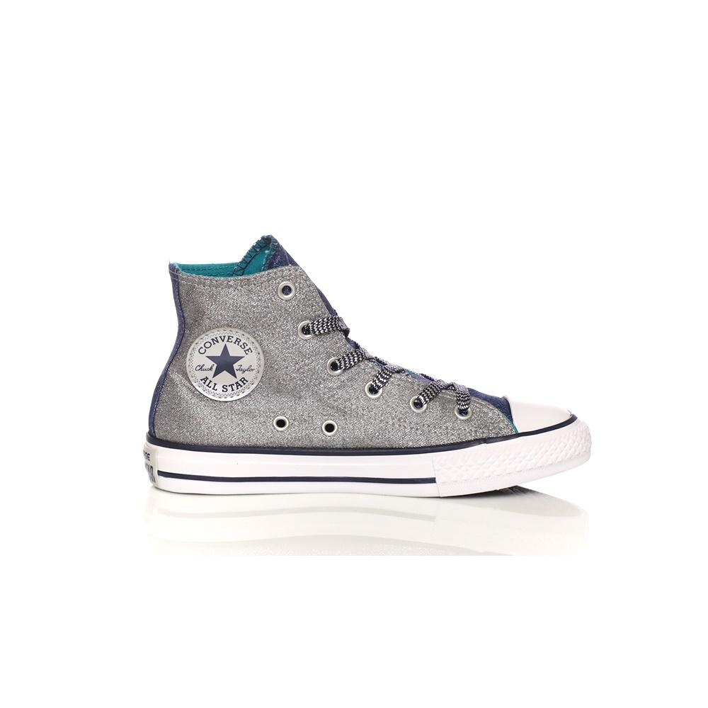 CONVERSE – Παιδικά παπούτσια CONVERSE Chuck Taylor All Star Hi ασημί-μπλε