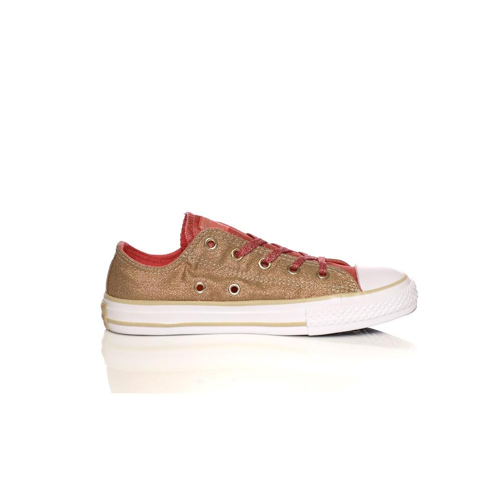 CONVERSE – Κοριτσίστικα παπούτσια CONVERSE Chuck Taylor All Star Ox χρυσά-πορτοκαλί