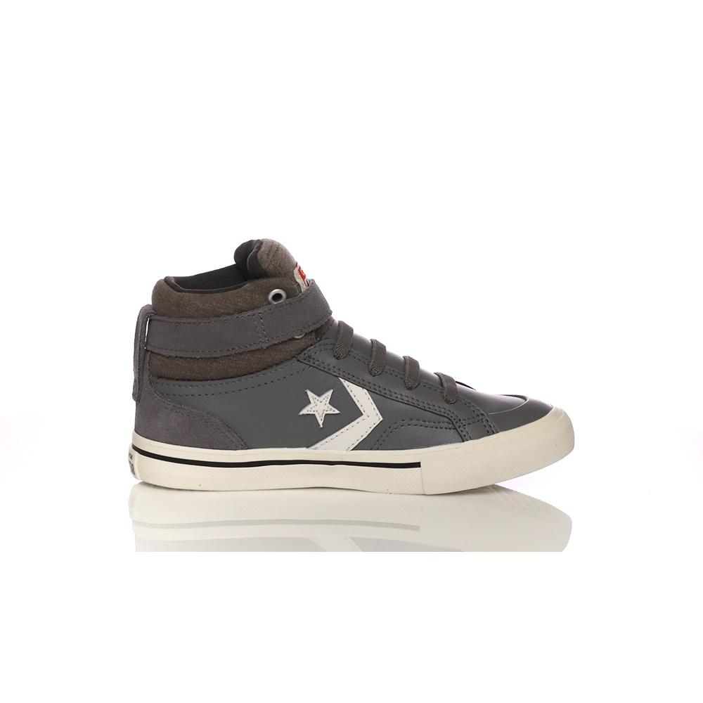 CONVERSE – Παιδικά παπούτσια CONVERSE Pro Blaze Strap Stretch Hi γκρι