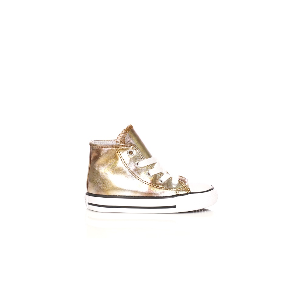 CONVERSE - Βρεφικά sneakers CONVERSE Chuck Taylor All Star Hi χρυσά