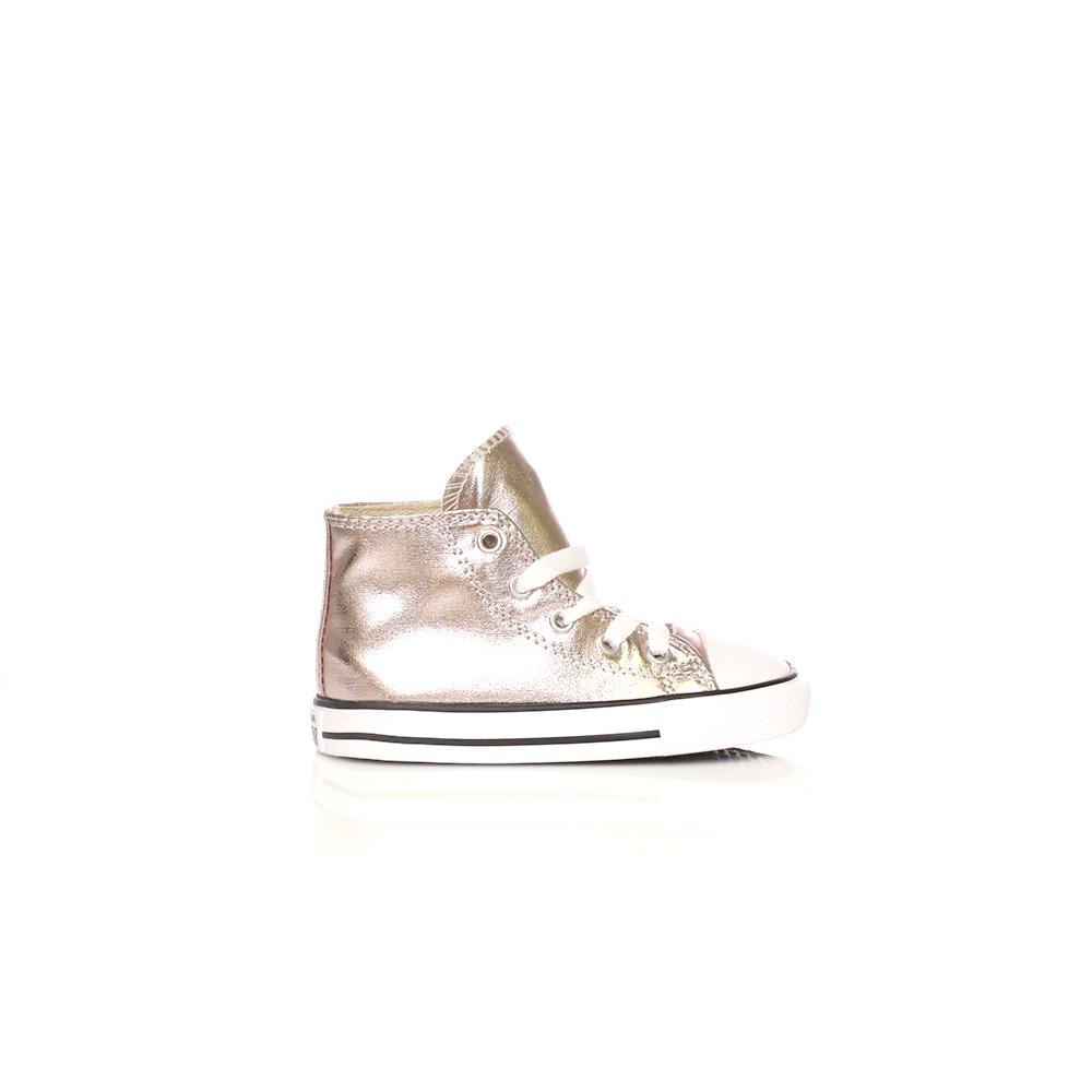 20b21c1778c -60% Factory Outlet CONVERSE – Βρεφικά παπούτσια Converse Chuck Taylor All  Star Hi ροζ μεταλλικό