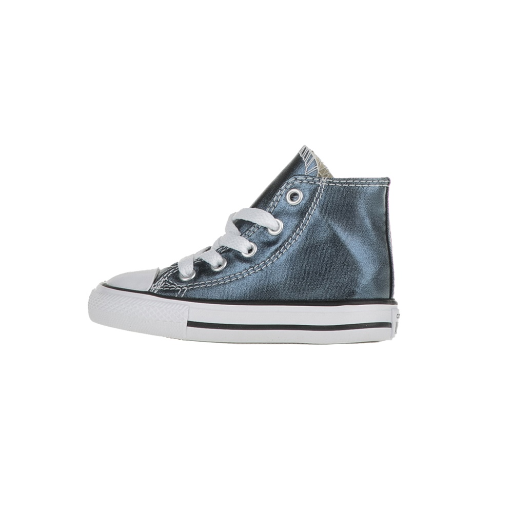 CONVERSE - Βρεφικά μποτάκια Chuck Taylor All Star Hi μπλε μεταλλικά παιδικά baby παπούτσια sneakers