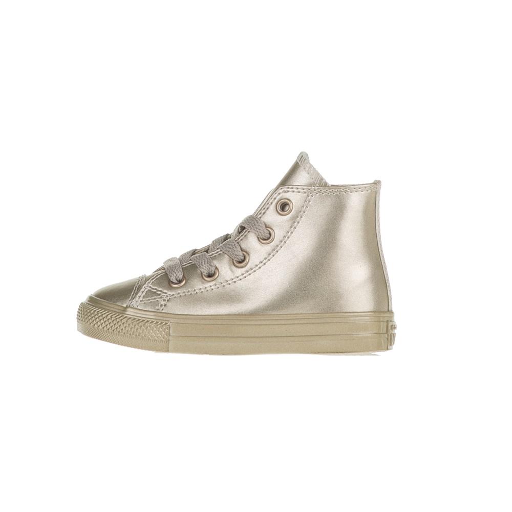 CONVERSE - Βρεφικά μποτάκια Chuck Taylor All Star Hi χρυσά
