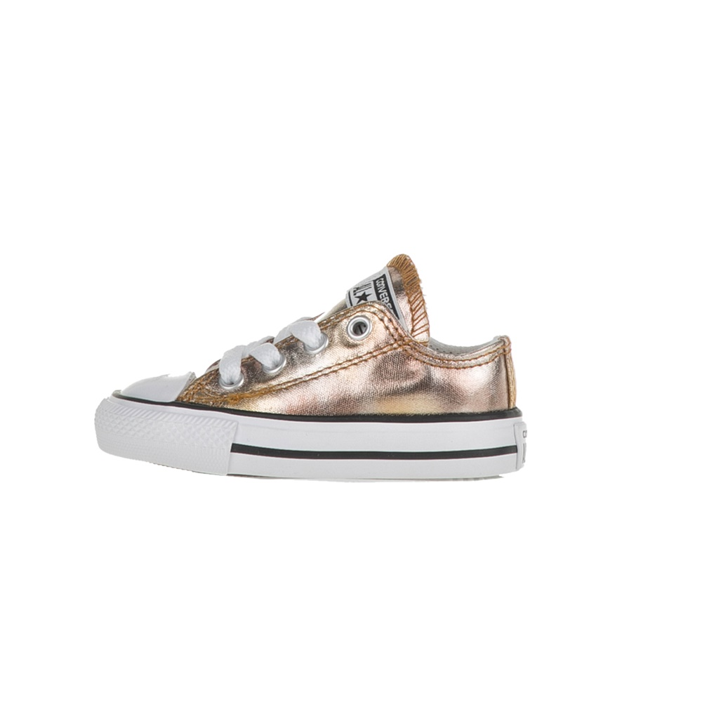 CONVERSE – Βρεφικά sneakers CONVERSE Chuck Taylor All Star Ox χρυσά 31fddc53caf