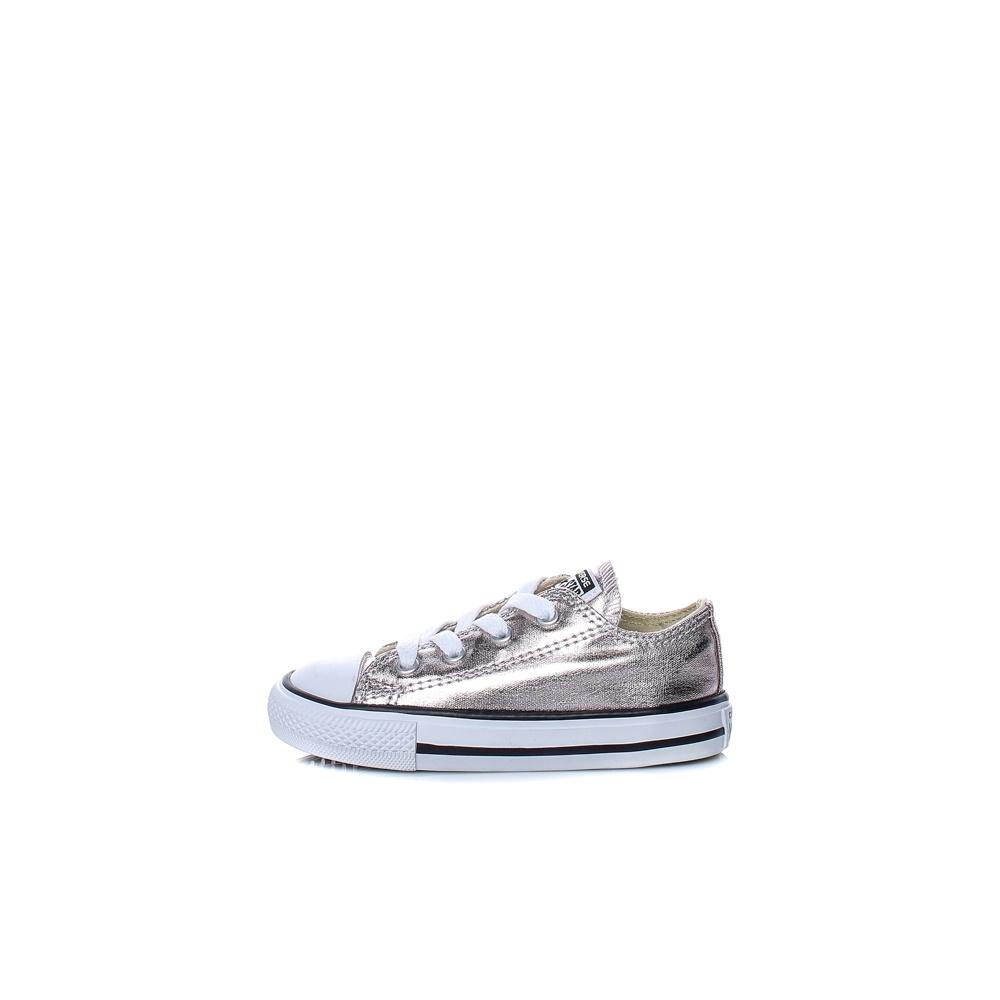 CONVERSE – Βρεφικά παπούτσια Chuck Taylor All Star Ox ασημί-χρυσά