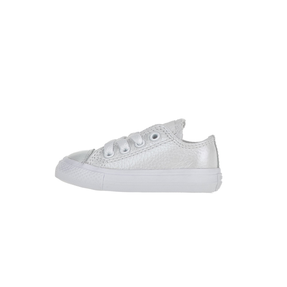 CONVERSE – Βρεφικά δερμάτινα sneakers Chuck Taylor All Star Ox λευκά