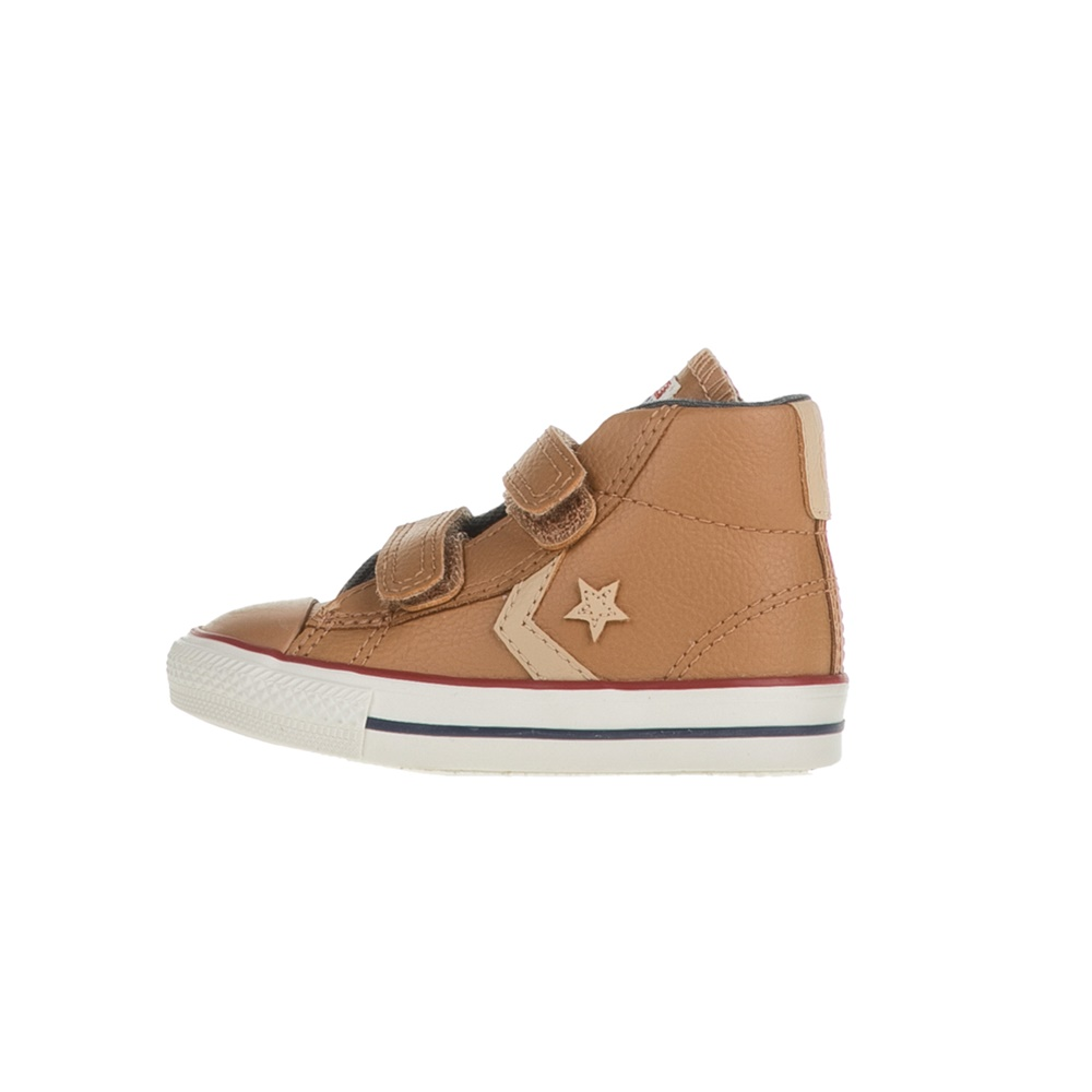 CONVERSE - Βρεφικά μποτάκια CONVERSE Star Player EV V Mid καφέ παιδικά baby παπούτσια sneakers