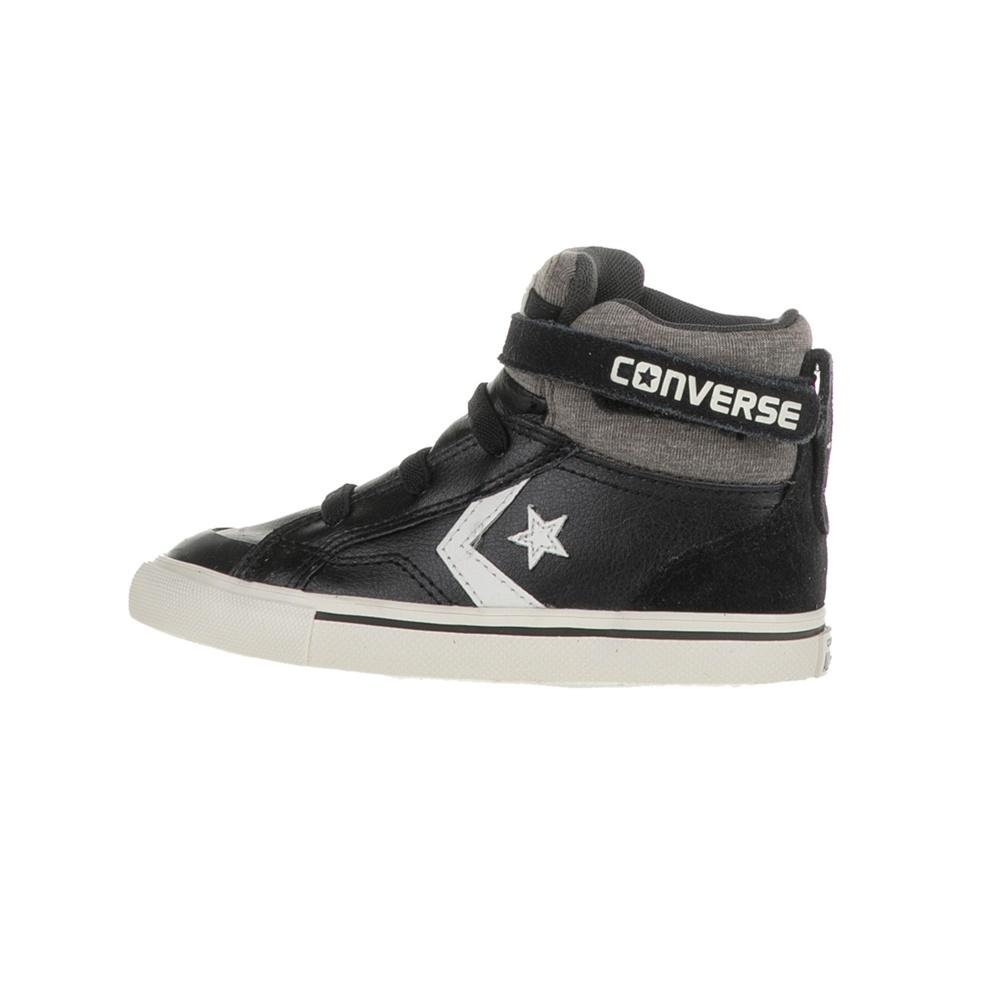 CONVERSE - Βρεφικά μποτάκια Pro Blaze Strap Stretch Hi μαύρα παιδικά baby παπούτσια sneakers