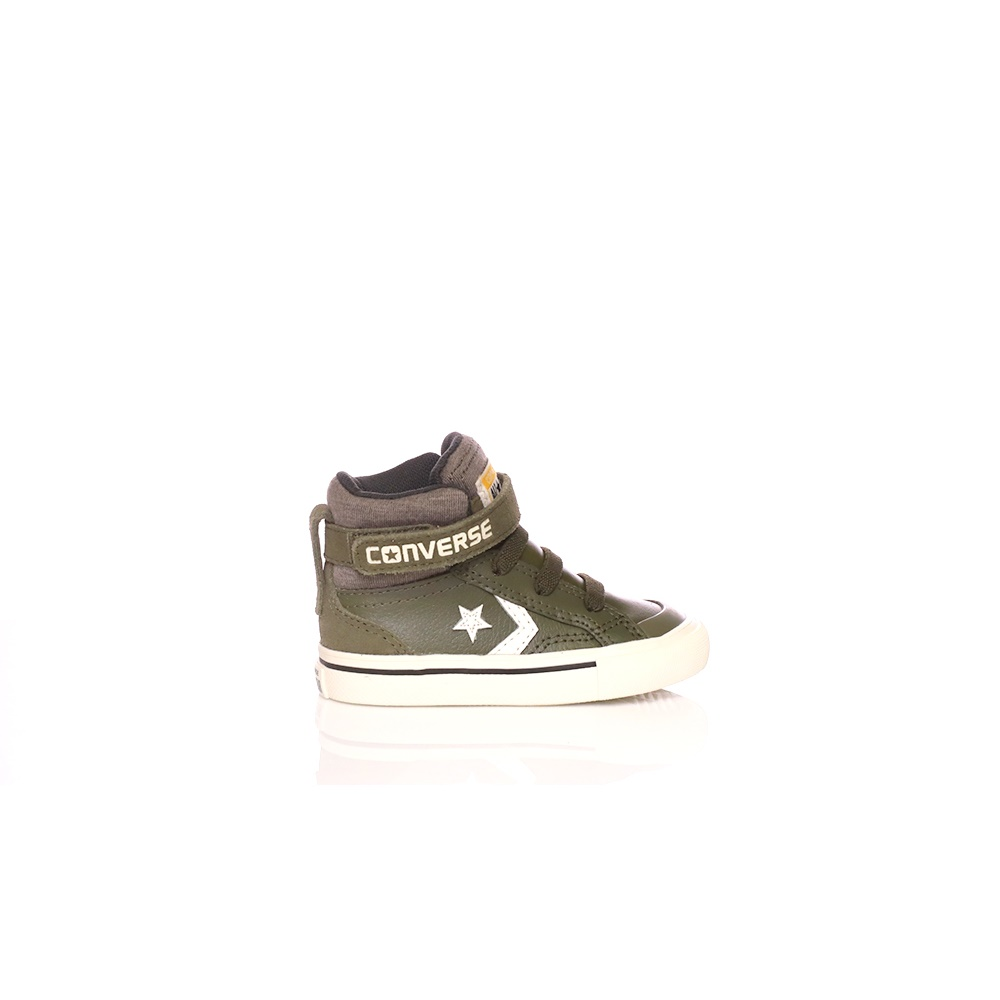 CONVERSE – Βρεφικά παπούτσια Converse Star Player Pro Blaze Strap Stretch Hi χακί